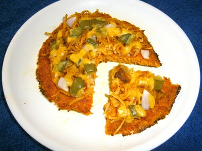 Carrot Crust Noodle Pizza
