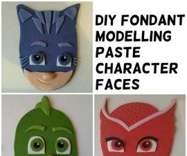 DIY 2D Fondant Character Faces