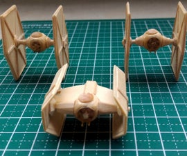 TIE Advanced & TIE Fighter Mini Popsicle Stick models
