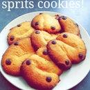 Dutch chocolate chip spritz cookies!