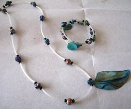 Rosebud & Shell jewelry with rubber tubing
