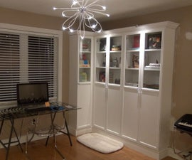 How to Make Ikea Bookshelves look like a Professional Built-in