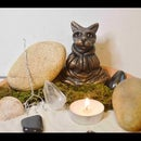 DIY Mini Meditating Cat Zen Garden