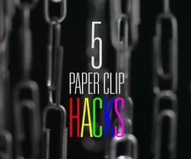 5 Useful Paper Clips Life Hacks
