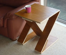 Collapsible Z-Shaped Side Table