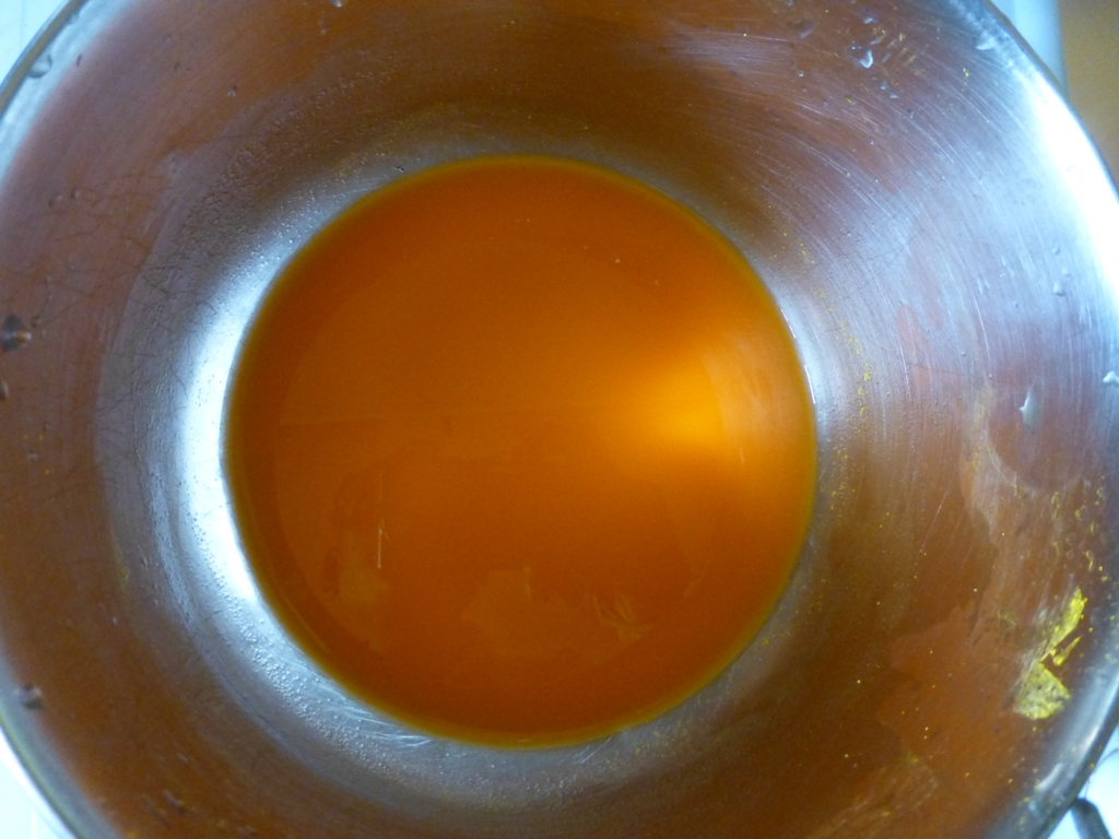 Picture of First Dyeing in Yellow Dye-bath