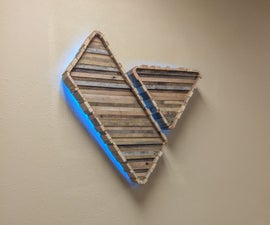Wood LED Logo Sign