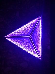 Floating Pyramid Lamp With 108 Spiritual Symbols