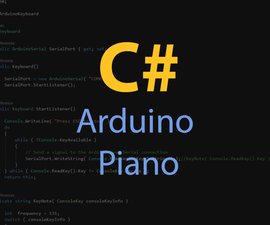 Arduino Piano in C#