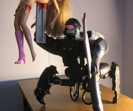 BARBIE-KILLER ROBOT made of broken joysticks (MUAHAHAHAHAHA!)