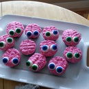 Brains and Zombie Cupcakes