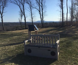 Solar Collector Bench Power Station and Sound System