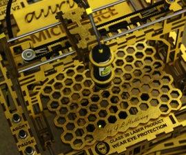 The MicroSlice V2 Aurum | a Gold Mini Laser Cutter & Engraver.
