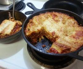Easy Dutch Oven Lasagna