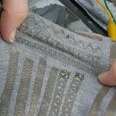 Lasercut Stretchy Conductive Fabric Traces