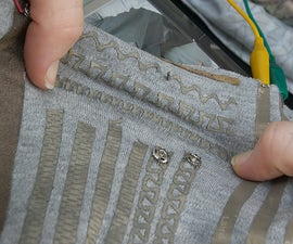 Lasercut Stretchy Conductive Fabric Traces