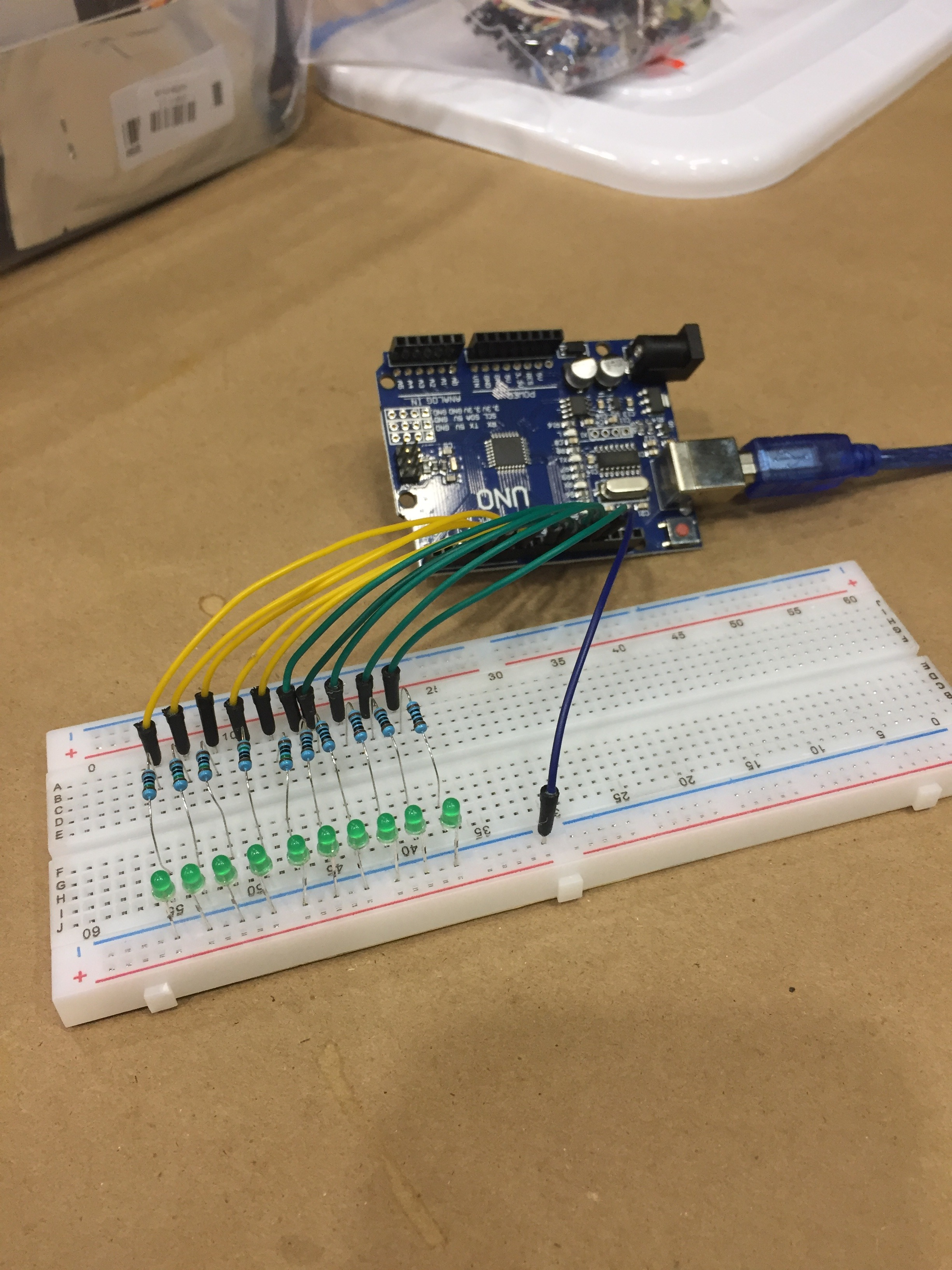 Picture of Breadboard Connections: Jumpers