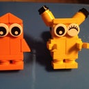 Lego Pokémon: Lego Charmander and Pikachu