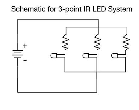 Picture of Wiring and Mounting a 3-point Head Tracking System