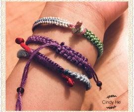 How to make a Fancy String Bracelet in Details