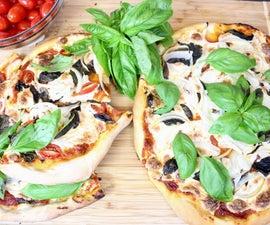Beginner's Homemade Rustic Pizza