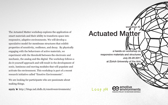 Picture of Actuated Matter Workshop / Zurich / July 25-29