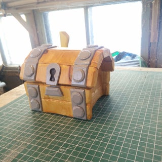 Making a Wooden Chest From Clash Royale