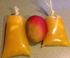 Frozen Mexican Mango Fruit Treat, Helados de bolsa.