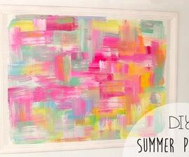 DIY summer project! Abstract wall art | Room decor
