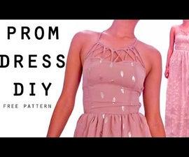 Strappy neck dress DIY    FREE PATTERN