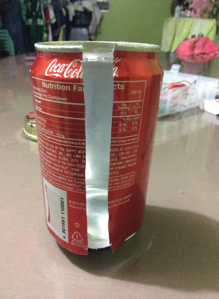 Picture of  Cut the Can and Make a Hole. Prefer to the Picture.