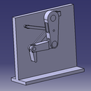 How to make a simple 3-D Ball Kicking Leg Mechanism using CATIA