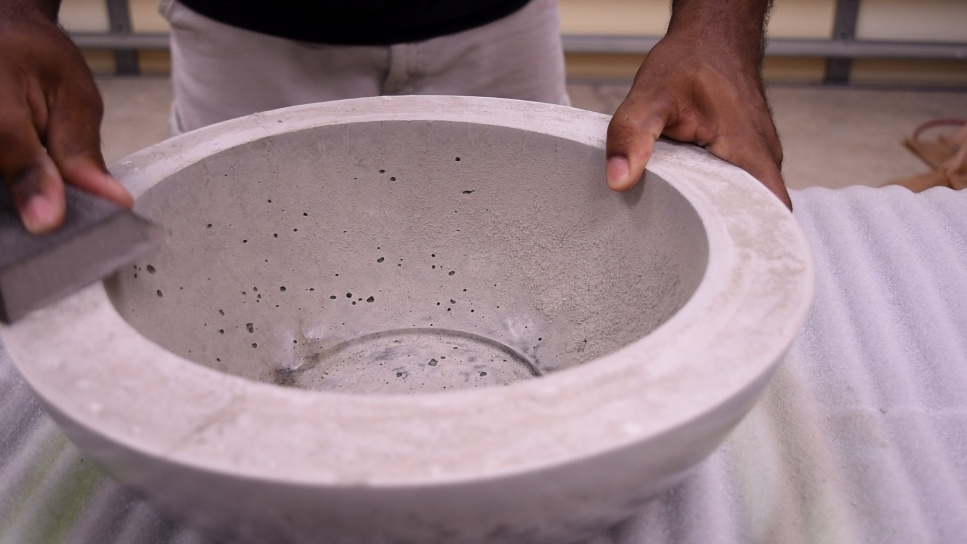 Picture of Sanding the Bowl