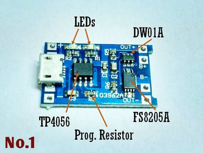 TP4056 Based Lithium Ion Battery Charger Module