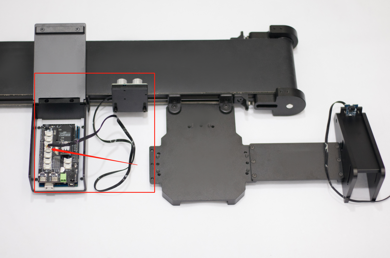 Picture of Connect Ultrasonic Sensor: Insert the Ultrasonic Sensor Cord Into D10-D11 of the Main Control Board