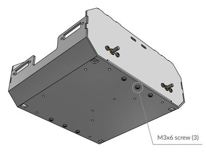 Attach the Right Plate to the Bottom Cover With M3x6 Screws