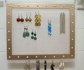 DIY Hanging Earring Organizer