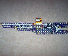 5 foot double barrel knex gun