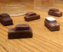 Mini Chocolate Cars - From Gelatin Molds