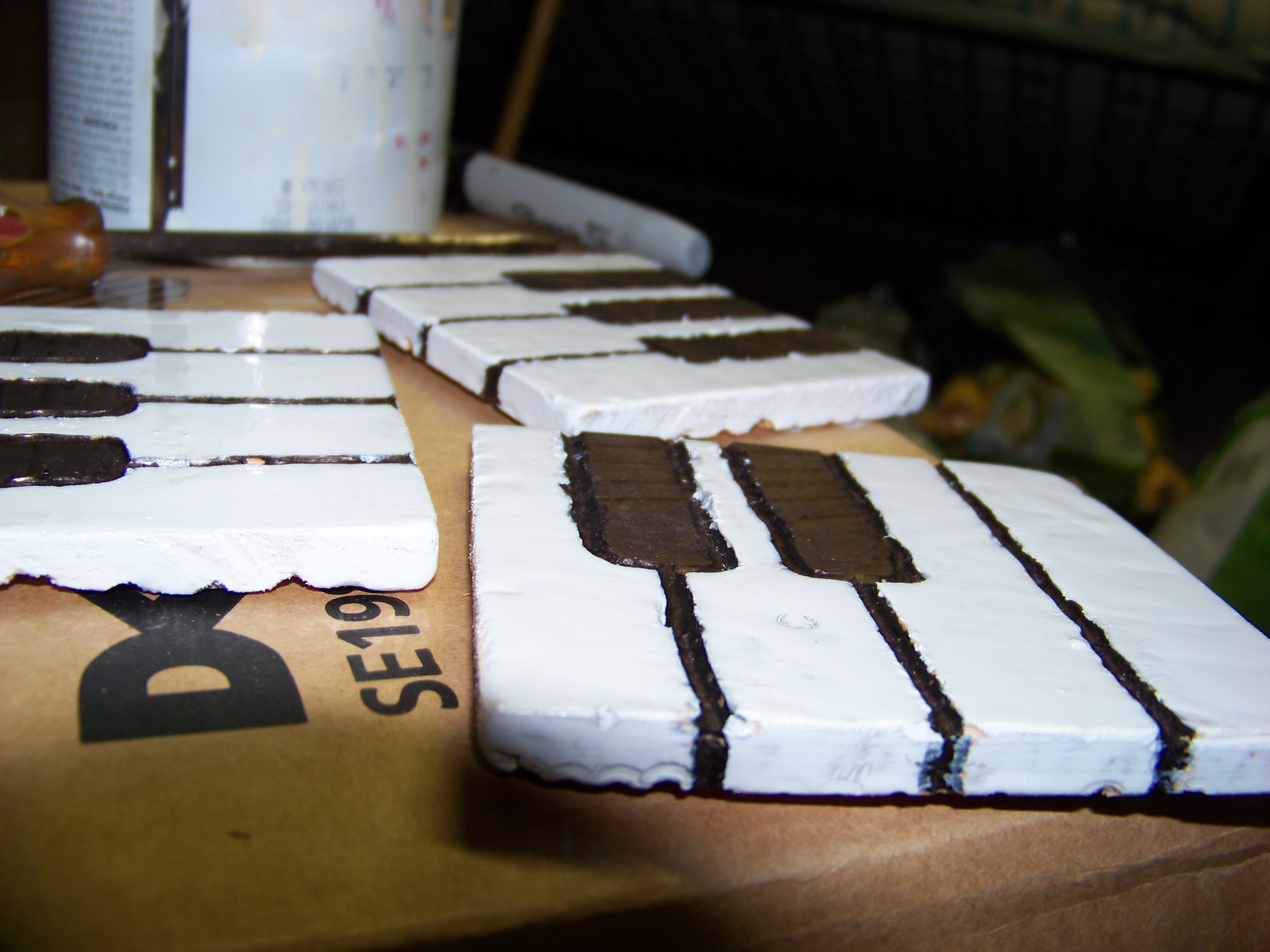 Picture of Piano Key Coasters