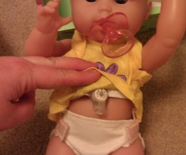 """Removable Gastrostomy Button for """"Play Model"""" Doll"""