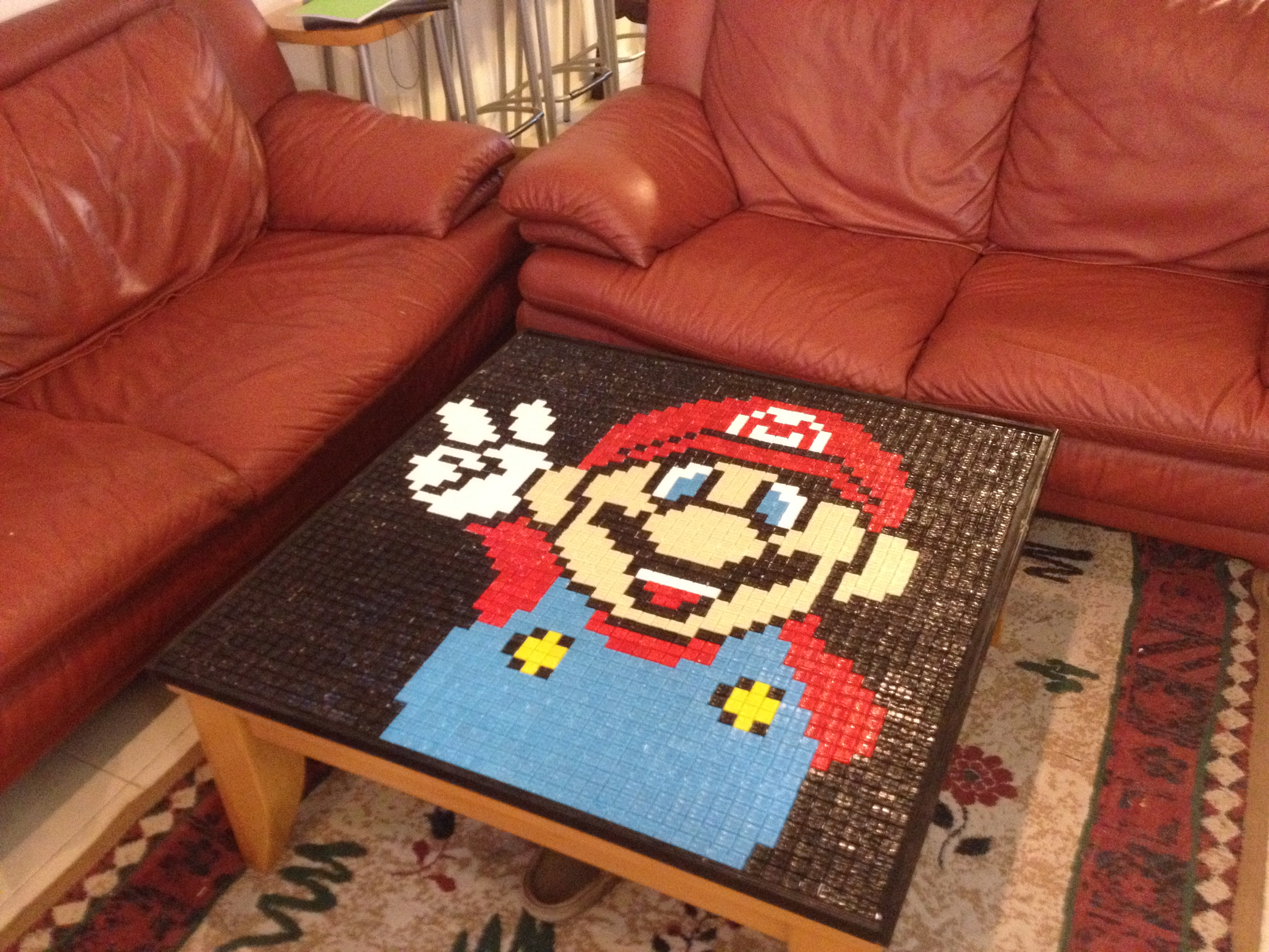 Picture of Super Mario Mosaic Table /Table Cover