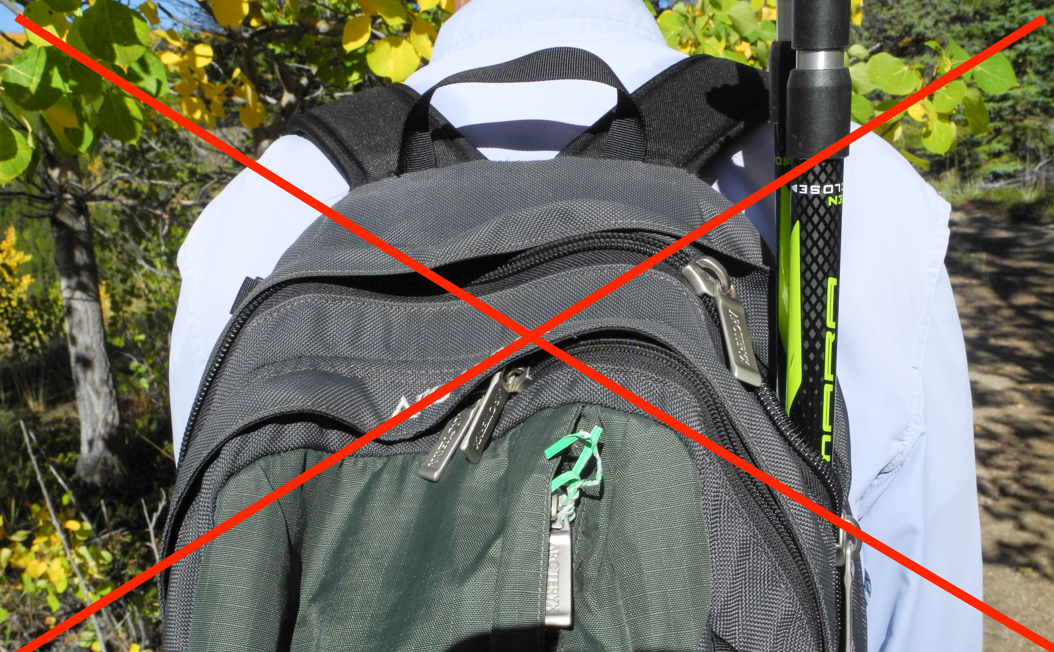 Picture of Secure Your Back Pack Properly