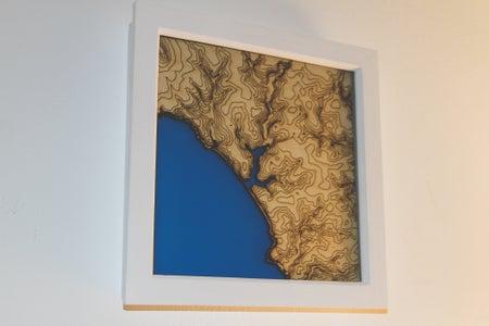 Laser Cut Contour Maps