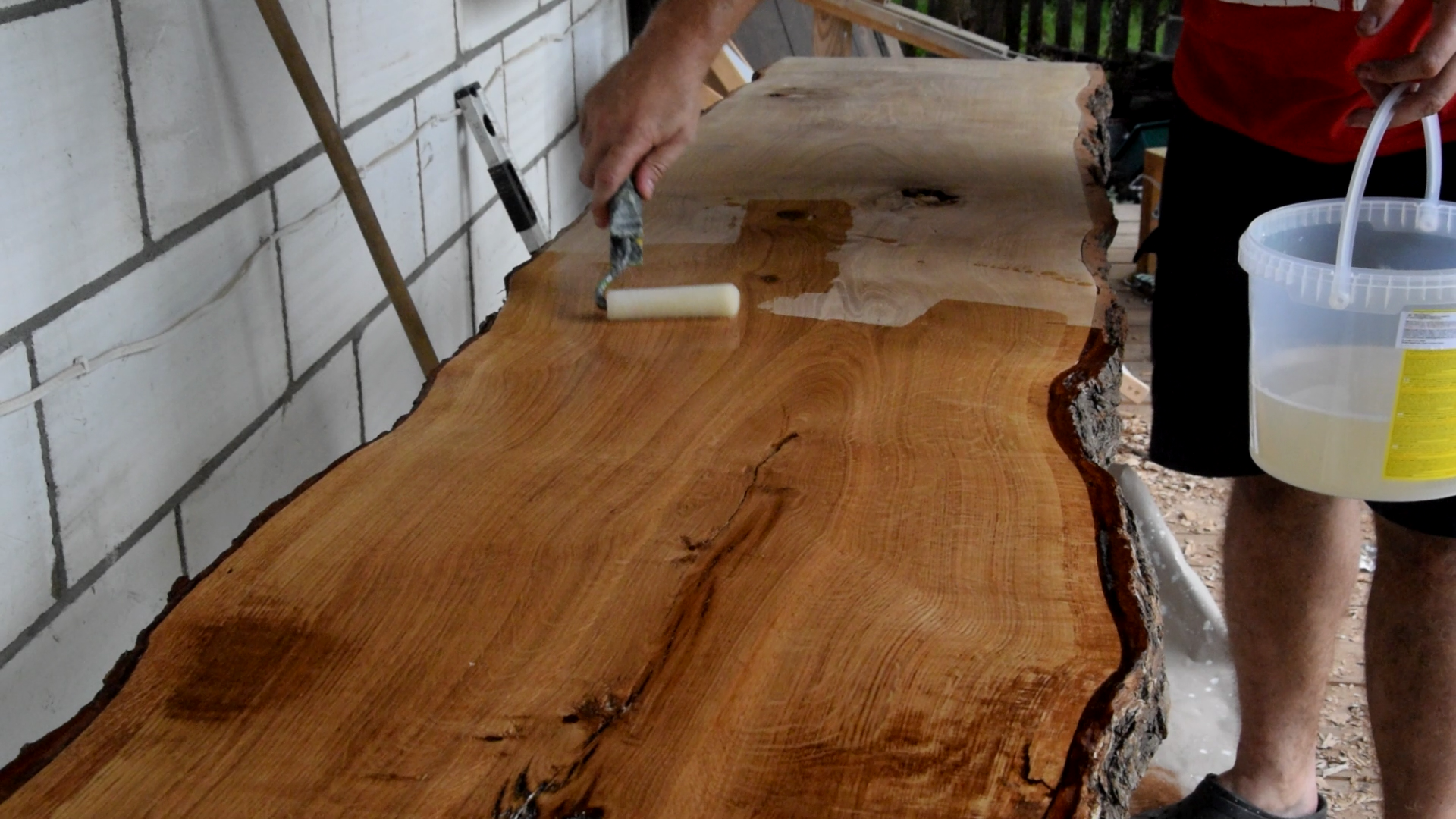 Picture of Bark Edge Oaken Table - Very Easy and Cool Looking