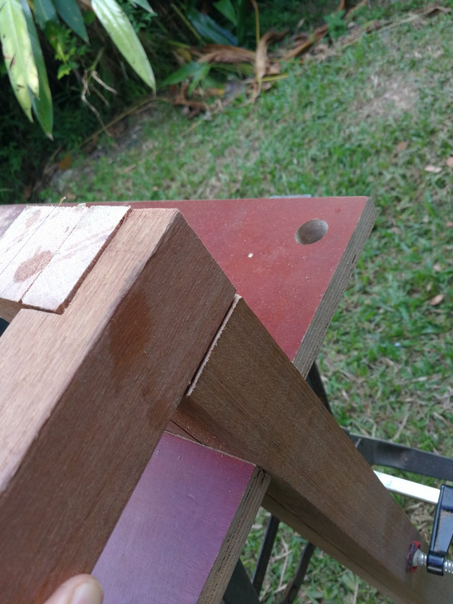 Picture of Cut the Lap Joints for Each Piece of the Table Frame