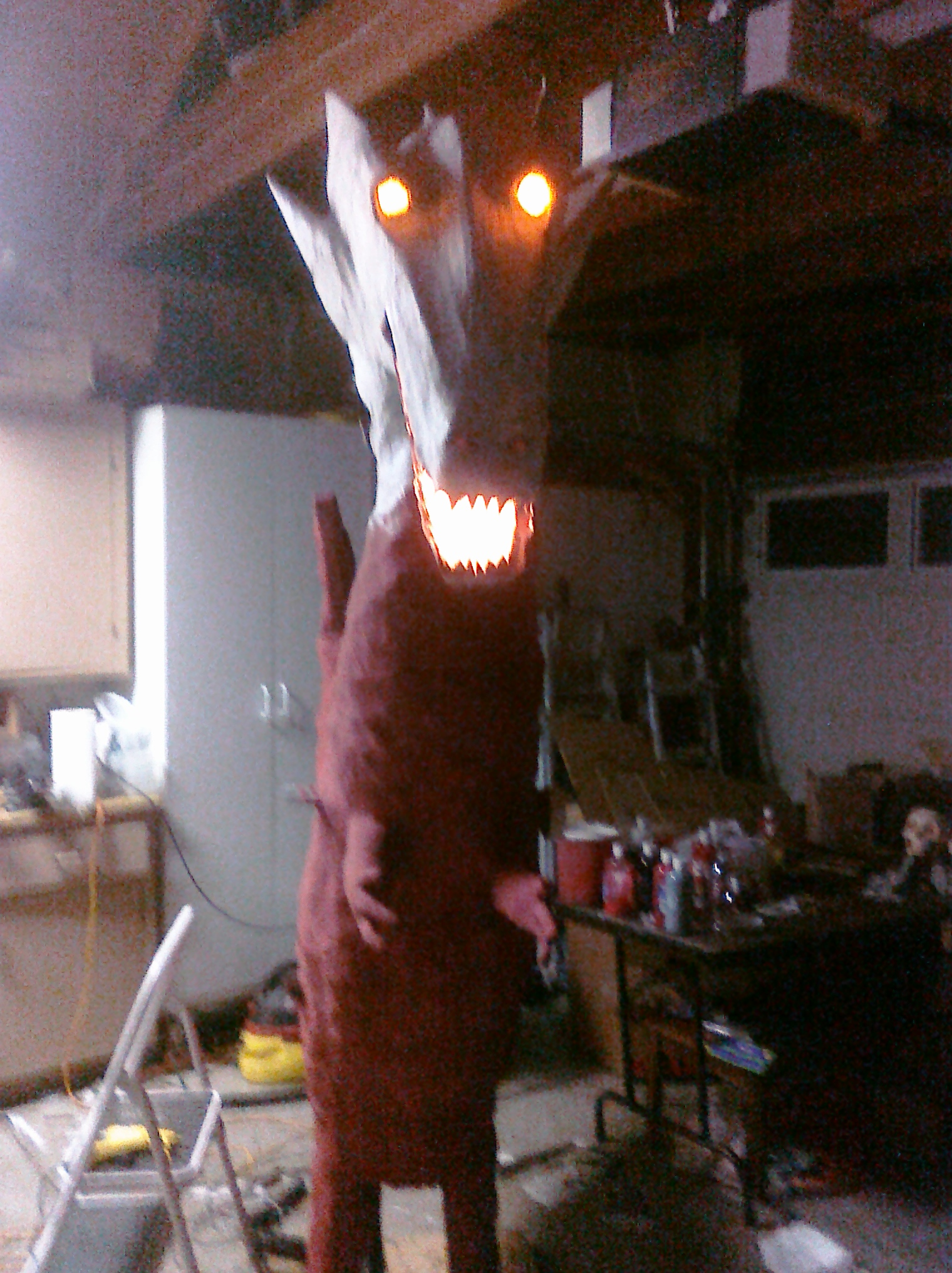"""Picture of Halloween 2009: """"Fire"""" Breathing Dragon With Articulated Wings"""
