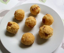 Semolina Chick Pea Flour Laddu