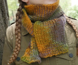 Knit 1, Purl 1 Ribbed Scarf