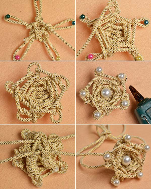 Picture of Make the Rest Part of the Cord Wrap Star Flower Bracelet